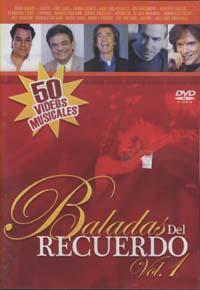 VARIOS – BALADAS DEL RECUERDO – (DVD) 50 VIDEOS MUSICALES  – VOL 1